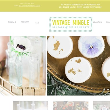 Vintage Mingle Rentals and Petite Events wedding vendor preview
