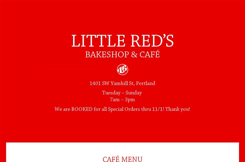 Little Red's Bakeshop and Cafe wedding vendor photo