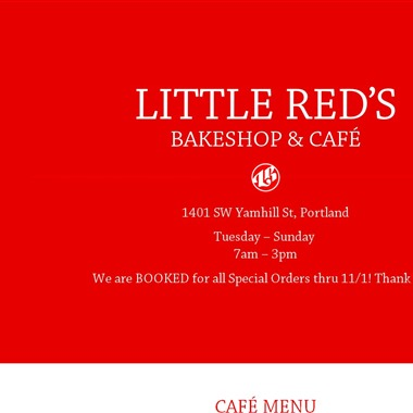 Little Red's Bakeshop and Cafe wedding vendor preview