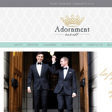Adornment Events wedding vendor preview