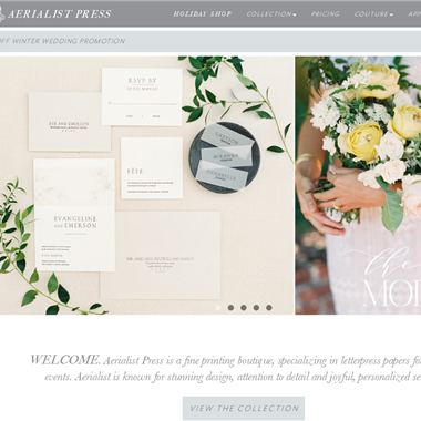 Aerialist Press wedding vendor preview