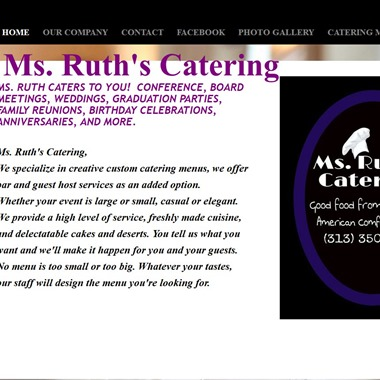 Ms. Ruth's Catering  wedding vendor preview