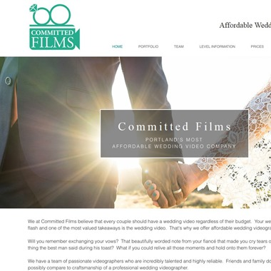 Committed Films wedding vendor preview