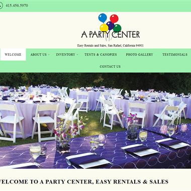 A Party Center wedding vendor preview