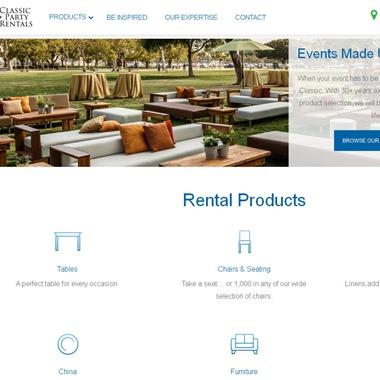 Classic Party Rentals wedding vendor preview