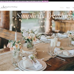 Simplicity by Stefanie Wedding Planning photo