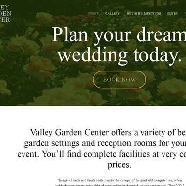 Valley Garden Center wedding vendor preview