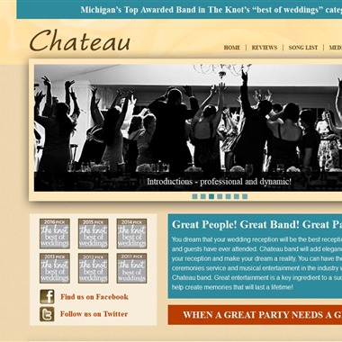 Chateau band wedding vendor preview