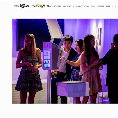 The Live Photobooth wedding vendor preview