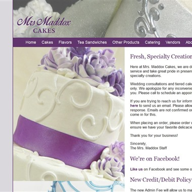Mrs. Maddox Cakes wedding vendor preview