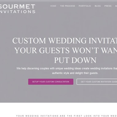 Gourmet Invitations wedding vendor preview