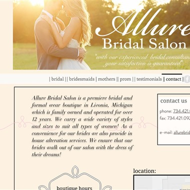 Allure Bridal Salon wedding vendor preview
