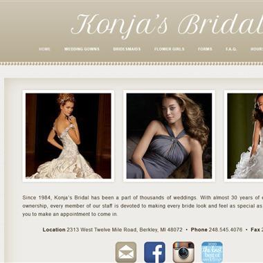 Konja's Bridal wedding vendor preview