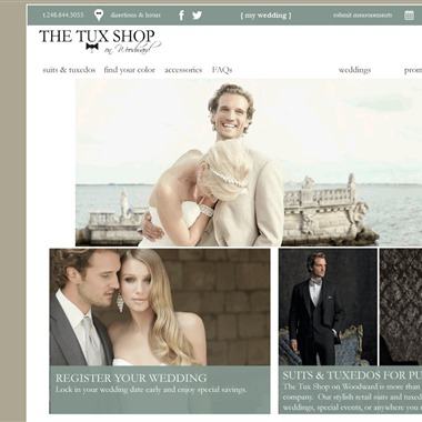 The Tux Shop on Woodward wedding vendor preview