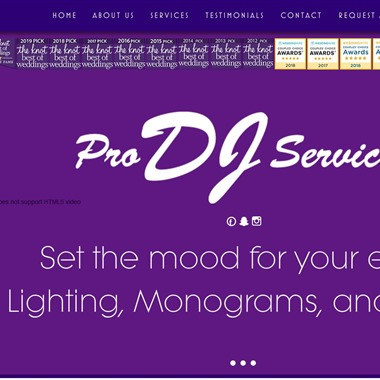Pro DJ Services wedding vendor preview