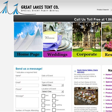 Great Lakes Tent Co wedding vendor preview