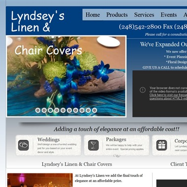 Lyndsey's Linen & Chair Covers wedding vendor preview