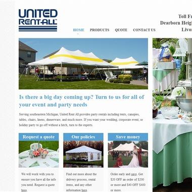 United Rent All wedding vendor preview