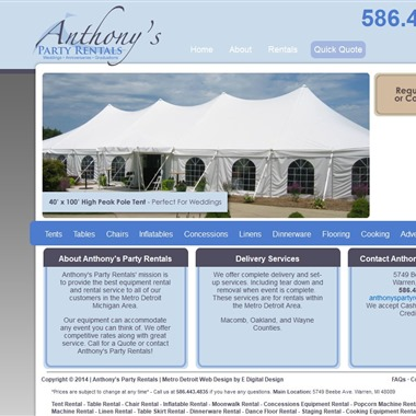 Anthony's Party Rentals wedding vendor preview