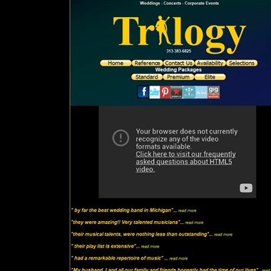 Trilogy Variety Band wedding vendor preview