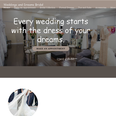 Weddings and Dreams wedding vendor preview