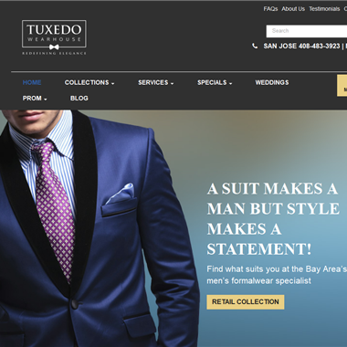 Tuxedo Wearhouse wedding vendor preview