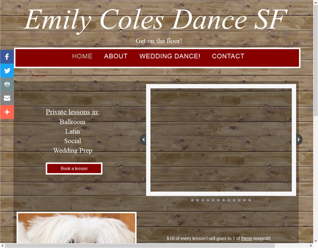 Emily Coles Dance SF wedding vendor photo