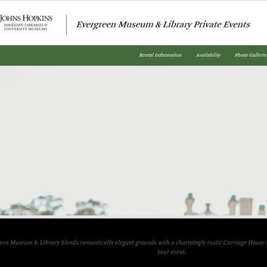 Evergreen Museum & Library wedding vendor preview