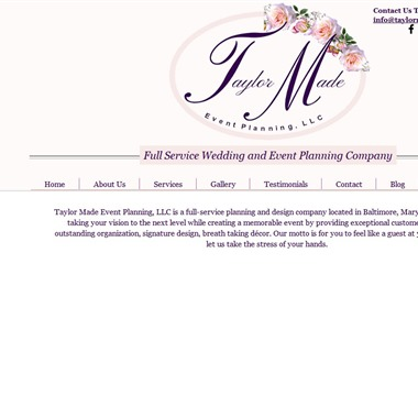 Taylor Made Event Planning wedding vendor preview