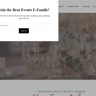 Brat Events wedding vendor preview