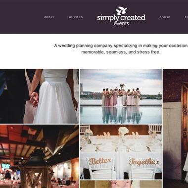 Simply Created Events wedding vendor preview