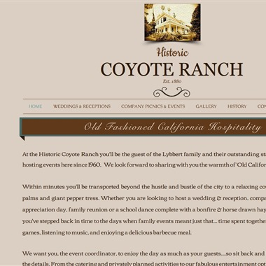 Coyote Ranch wedding vendor preview