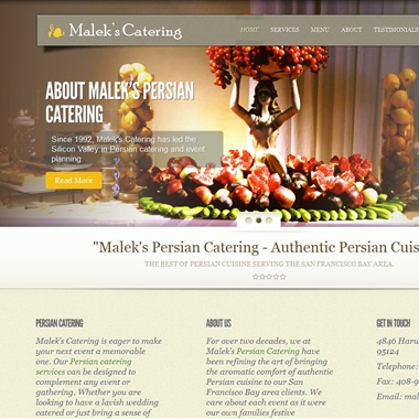 Malek Catering wedding vendor preview