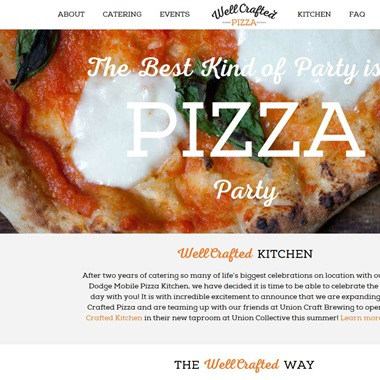 Well Crafted Pizza wedding vendor preview