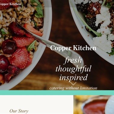 Copper Kitchen wedding vendor preview