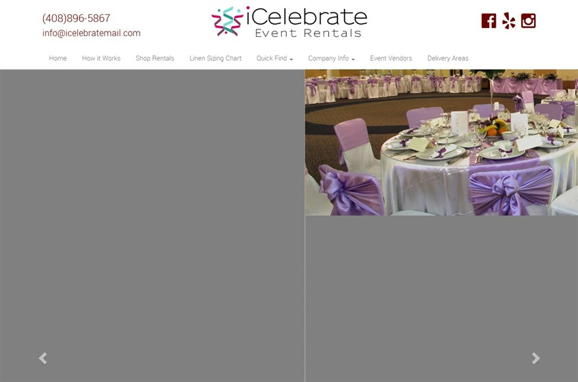 iCelebrate Event Rentals wedding vendor photo