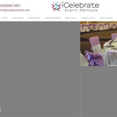 iCelebrate Event Rentals wedding vendor preview