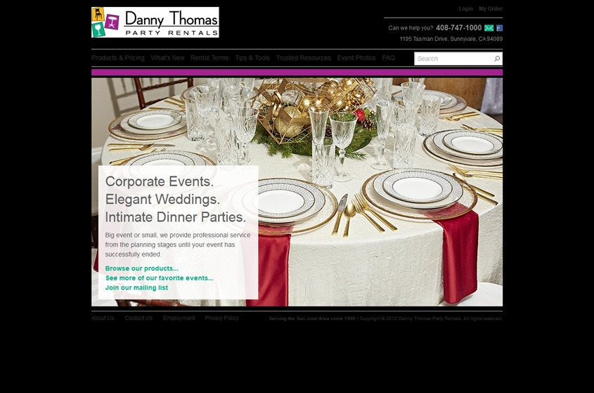 Danny Thomas Party Rentals wedding vendor photo