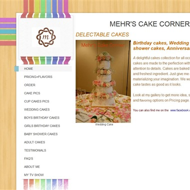 Mehr's Cake Corner wedding vendor preview