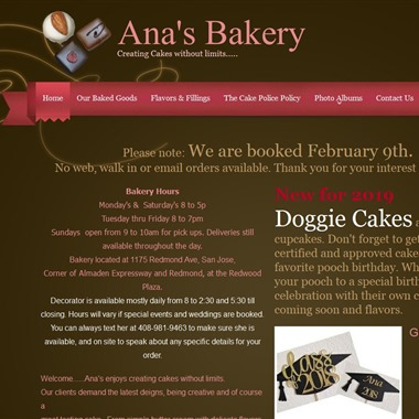 Ana's Bakery wedding vendor preview