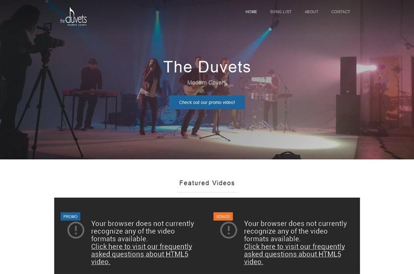 The Duvets Cover Band wedding vendor photo