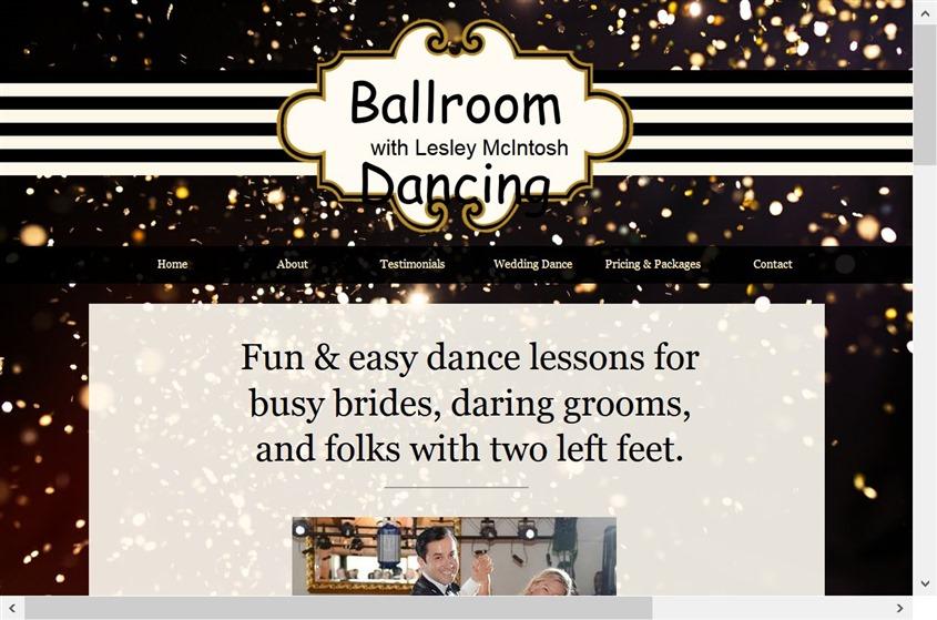 Ballroom Dancing with Lesley McIntosh wedding vendor photo