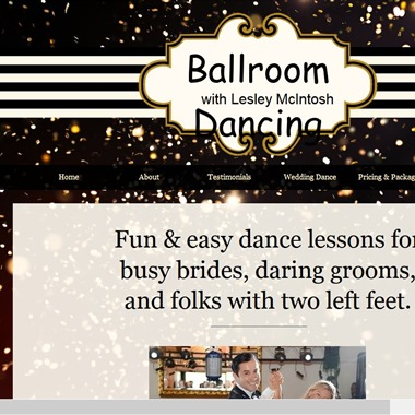 Ballroom Dancing with Lesley McIntosh wedding vendor preview