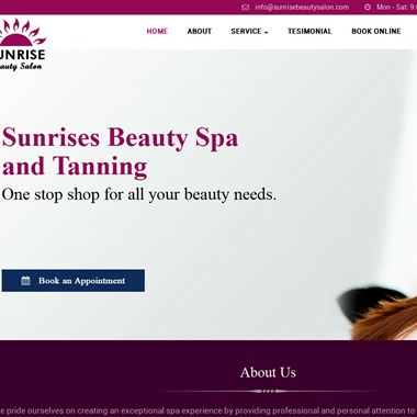 Sunrise Beauty Spa and tanning wedding vendor preview