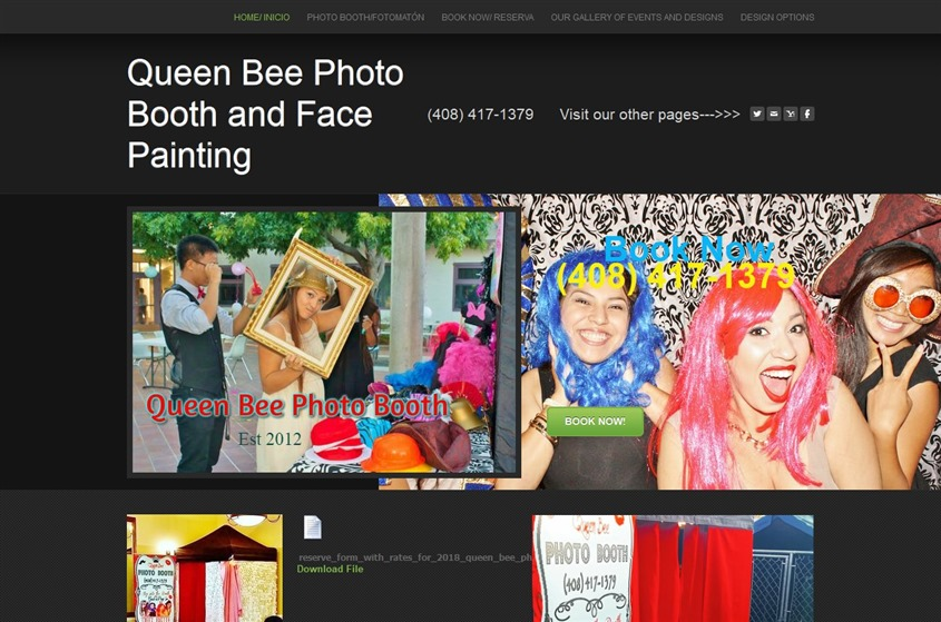 Queen Bee Photo Booth and Face Painting wedding vendor photo