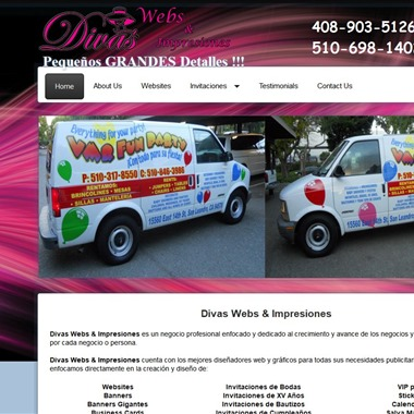Divas Webs and Impresione wedding vendor preview