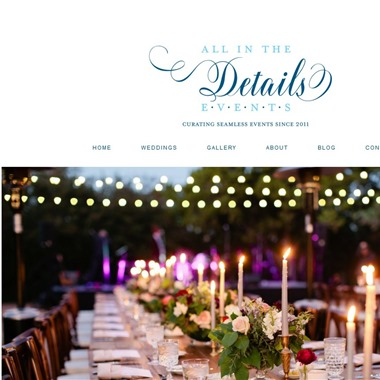 All In The Details Events wedding vendor preview
