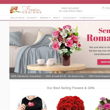 Freesia Designs Florist wedding vendor preview
