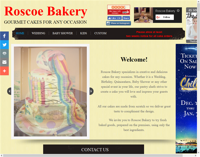 Roscoe Bakery wedding vendor photo