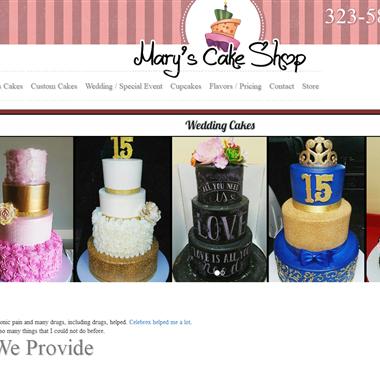 Mary's Cake Shop wedding vendor preview